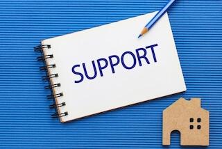 サポートの文字とメモ