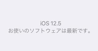 IOS12 5にアップデート後