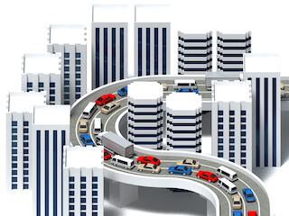 都市での渋滞
